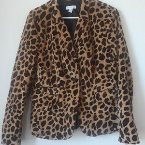 Charter club cheetah blazer jacket size 12